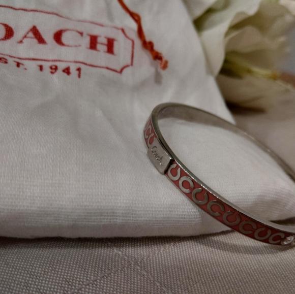 Coach Jewelry - Pink Coach Signature 'C' Enamel Bracelet